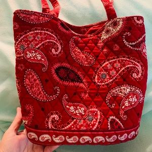 Paisley Print Mid-Size Bag With Shoulder Straps